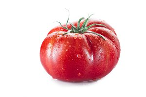 Fresh tomato isolated on a white background