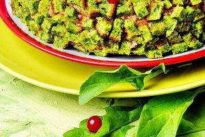 Spinach vegan pie