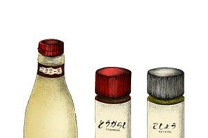 Illustration of Japanese ingredients