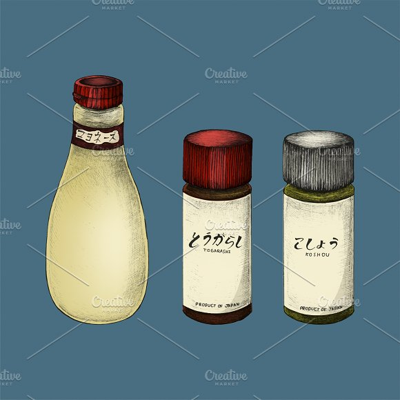 Illustration Of Japanese Ingredients