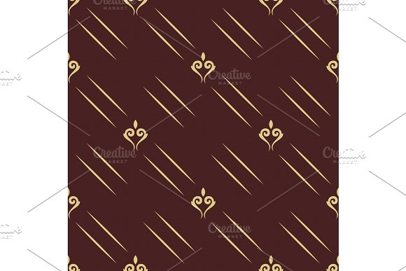 Seamless Vector Pattern With Golden Elements