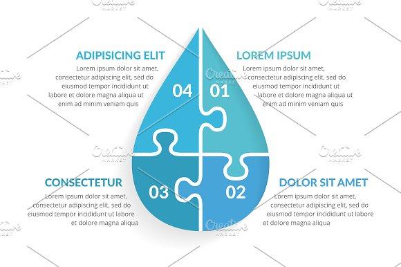 Water Drop Infographics