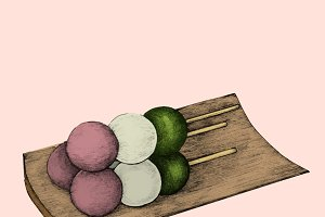 Illustration of Japanese cuisine