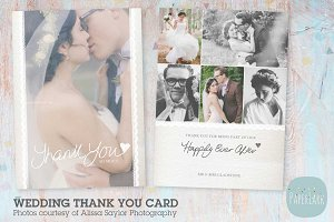 AW016 Wedding Thank You Card