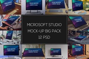 Microsoft Studio Mock-up Pack #2