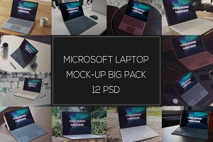 Microsoft Laptop Mock-up Pack #2