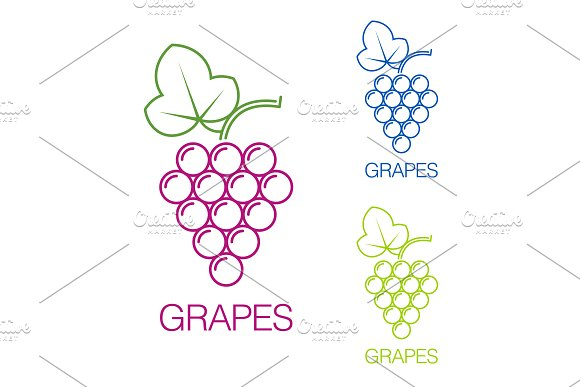 Grape Sign Logo Wine Production