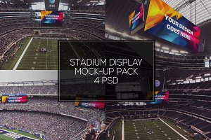 NFL Stadium Display Mock-up Pack #1