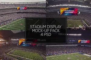 NFL Stadium Display Mock-up Pack #3