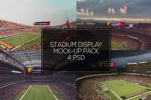 NFL Stadium Display Mock-up Pack #2