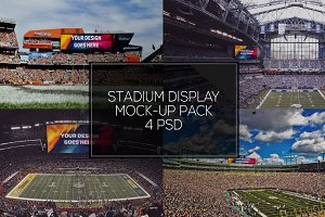 NFL Stadium Display Mock-up Pack #4