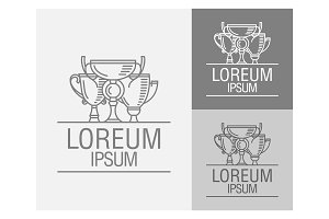 Cup winner idea. Logo competition