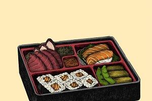 Illustration of Japanese dish