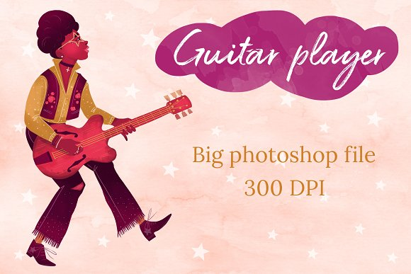 The Guitar Player Character Design