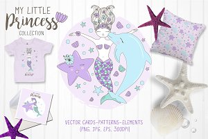 Vector Little Mermaid collections