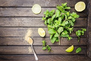 Ingredients for cocktail mojito