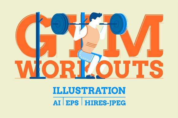 Gym Workouts Illustration