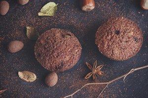 baked round muffins