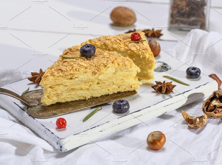 Baked Pie Napoleon Food Images Creative Market