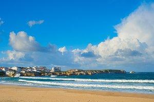 ocean seashore town. Baleal, Portuga