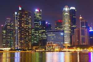 Skyline of Singapore Downtown