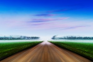 Dramatic road to success landscape abstraction background