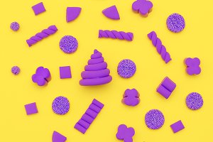 Candy background Candy mood.  Flatla