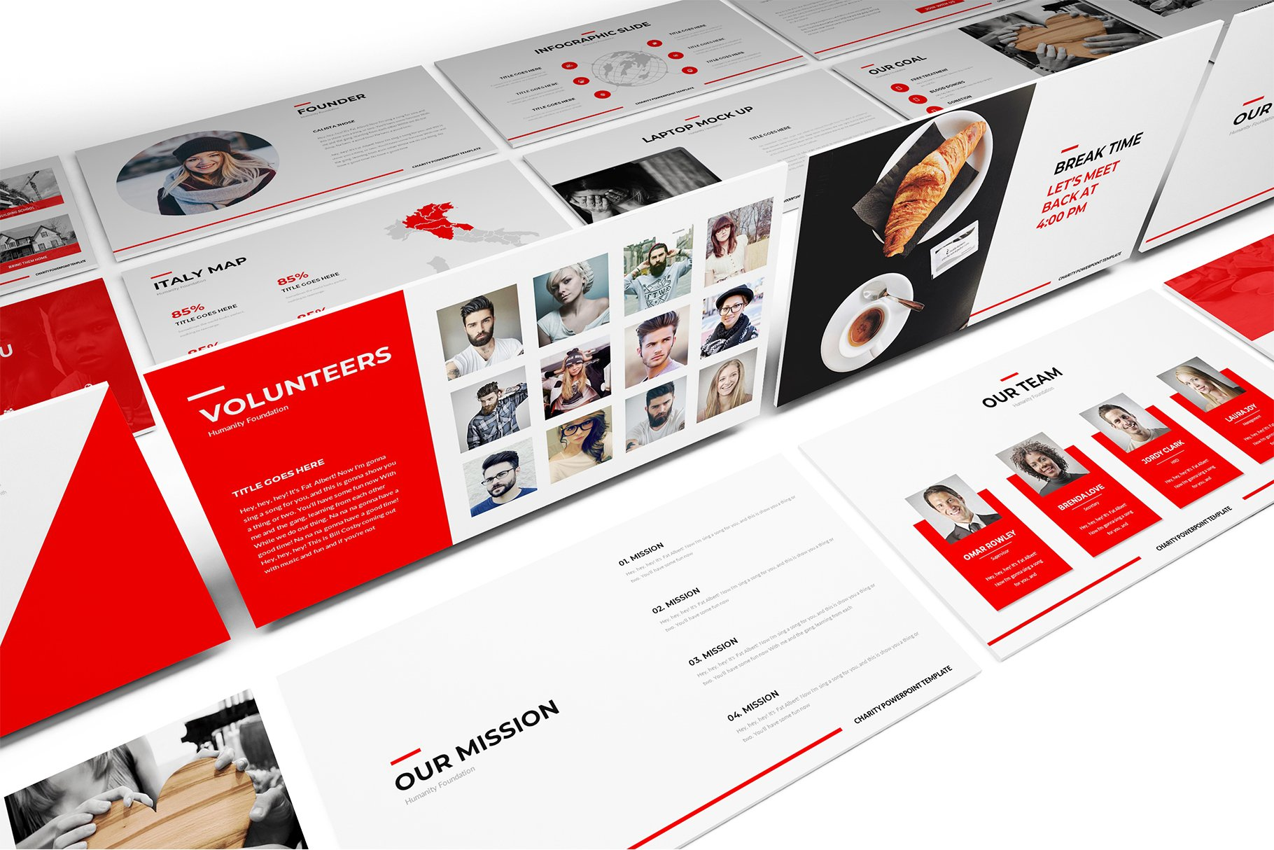 Charity keynote template presentation templates creative market toneelgroepblik Image collections