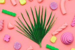 Sweet Candy Minimal Flatlay art