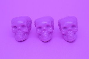 Purple Mood. Skull