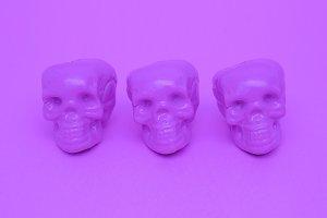 Purple Mood. Skull