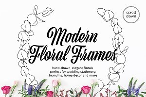 Modern Floral Wreath Pack