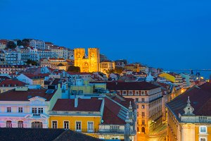 Old Town Lisbon Cathedral  Portugal