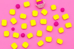 Set of sweets. Candy Pink mood.