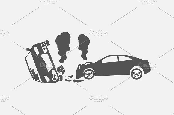 50 Car Crash Road Accident Icons ~ Icons ~ Creative Market