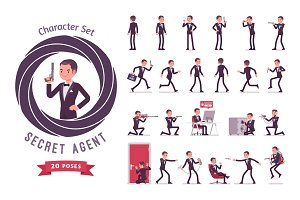 Secret agent man ready-to-use character set
