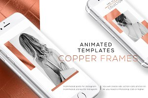 COPPER FRAMES. ANIMATED TEMPLATES.