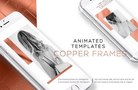 COPPER FRAMES ANIMATED TEMPLATES