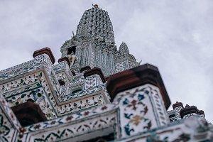 Looking up at Wat Arun