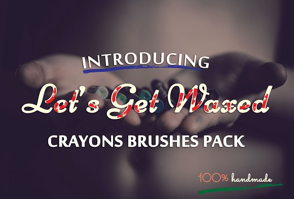 Wax Crayons Illustrator Brushes