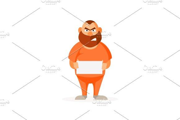 Prisoner Thug Vector