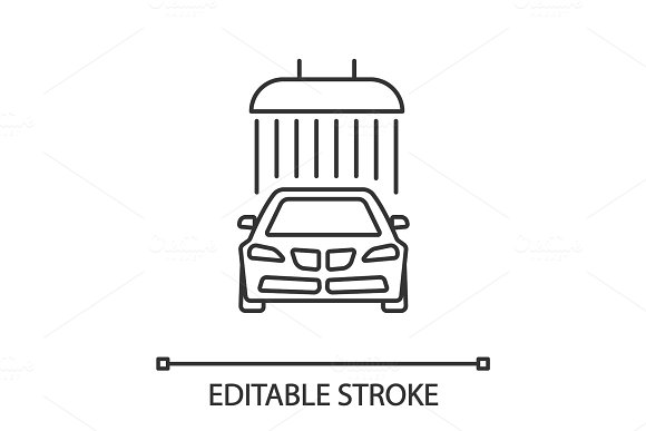 Car Washing Linear Icon