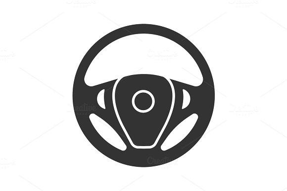 Car Rudder Glyph Icon