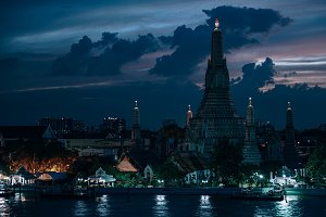 Wat Arun Temple During Sunset