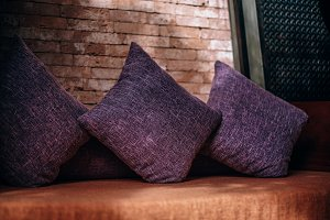 Beautiful Handmade Purple Pillows
