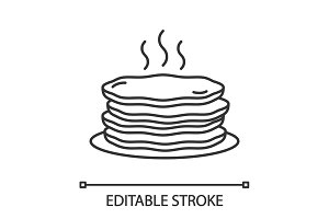 Pancakes stack linear icon