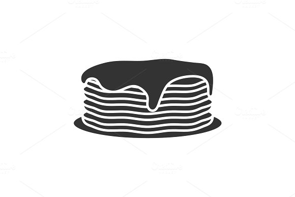 Pancakes Stack With Jam Or Honey Glyph Icon