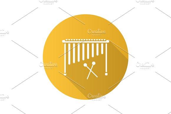 Marimba Flat Design Long Shadow Glyph Icon