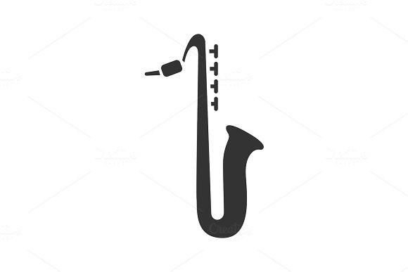 Saxophone Glyph Icon