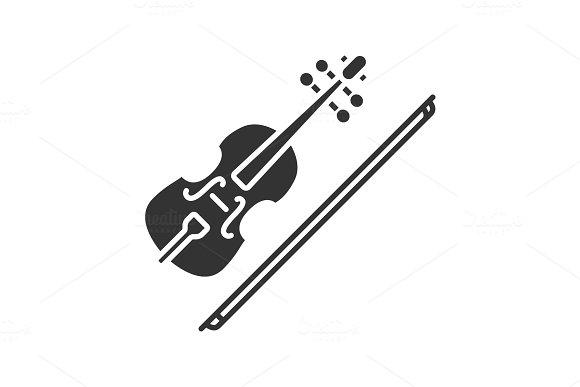 Violin Glyph Icon